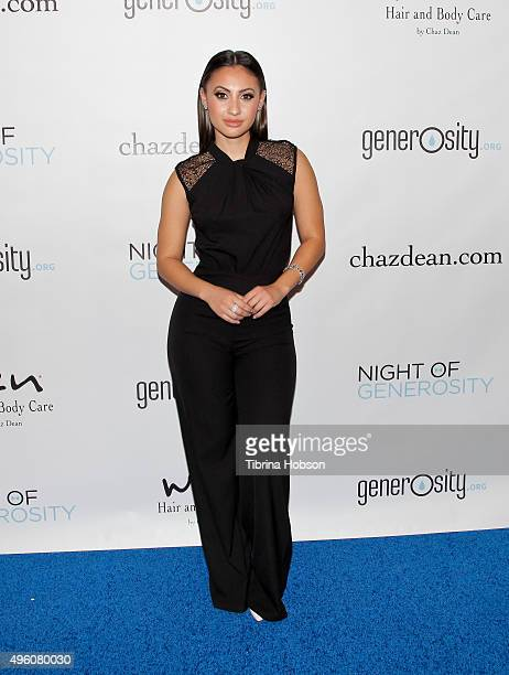 Francia Raisa attends the 7th Annual 'Night of Generosity' Gala benefiting generosity.org at the Beverly Wilshire Four Seasons Hotel on November 6,...