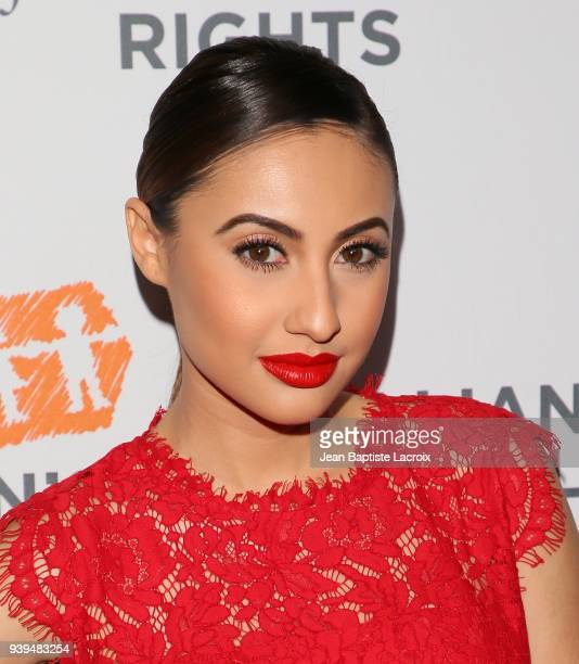 Francia Raisa attends The Alliance For Children's Rights 26th Annual Dinner at The Beverly Hilton Hotel on March 28 2018 in Beverly Hills California