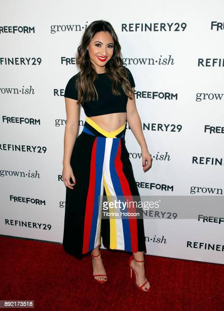 Francia Raisa attends the premiere of ABC's 'Grownish' on December 13 2017 in Hollywood California
