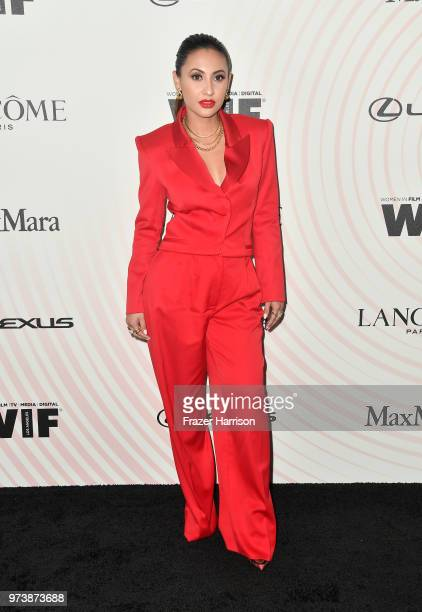Francia Raisa attends the Women In Film 2018 Crystal Lucy Awards presented by Max Mara Lancôme and Lexus at The Beverly Hilton Hotel on June 13 2018...