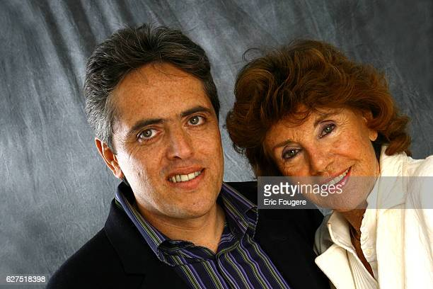 Francine and Laurent Distel on the set of TV show Les Grands du Rire