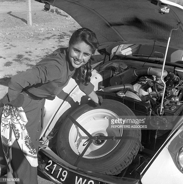 Francine Breaud and The Citroen DS 19 in France in 1955