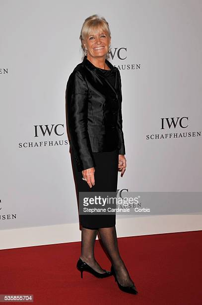 Francine Cousteau arrives for the Swiss watchmaker IWC party at the Salon International de la Haute Horlogerie at Palexpo in Geneva