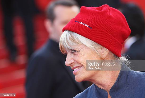 Francine Cousteau attend the The Exodus Burnt By The Sun Premiere at the Palais des Festivals during the 63rd Annual Cannes Film Festival on May 22...