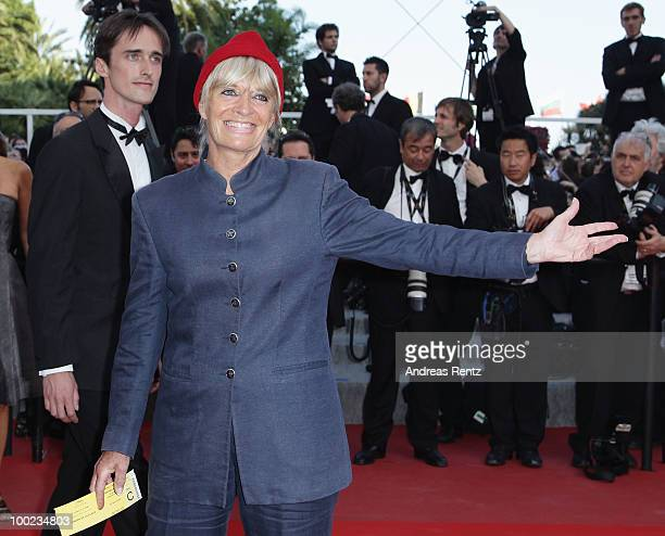 Francine Cousteau attends the The Exodus Burnt By The Sun Premiere at the Palais des Festivals during the 63rd Annual Cannes Film Festival on May 22...