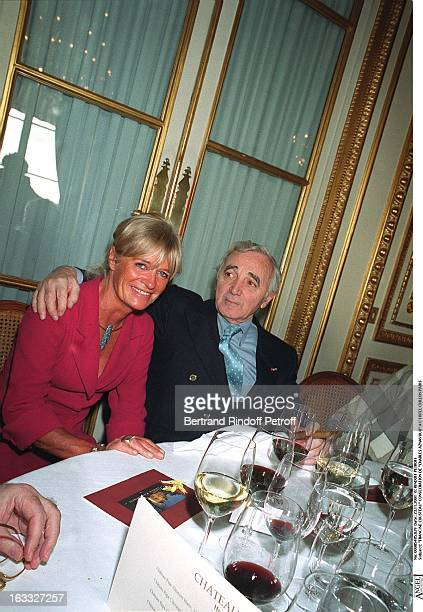 Francine Cousteau consecration of Charles Aznavour at the Crillion Hotel in Paris
