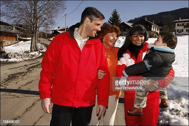 Francine Distel in his chalet in France on February 21 2007 It is in his chalet in Megeve that Francine Distel welcomed by us warmly accompanied by...