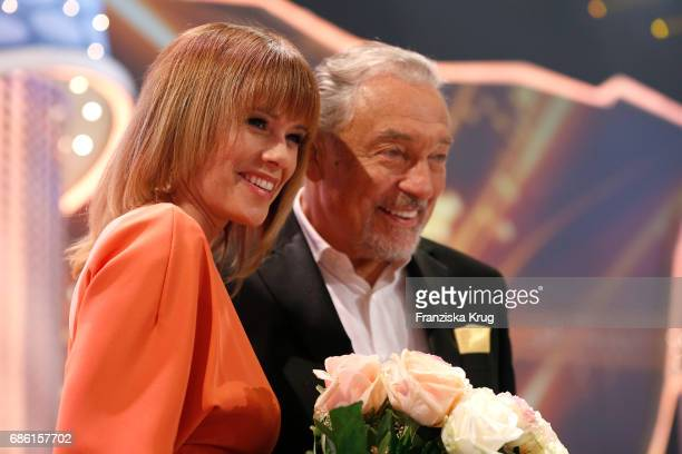 Francine Jordi and Karel Gott during the tv show 'Willkommen bei Carmen Nebel' at Velodrom on May 20 2017 in Berlin Germany