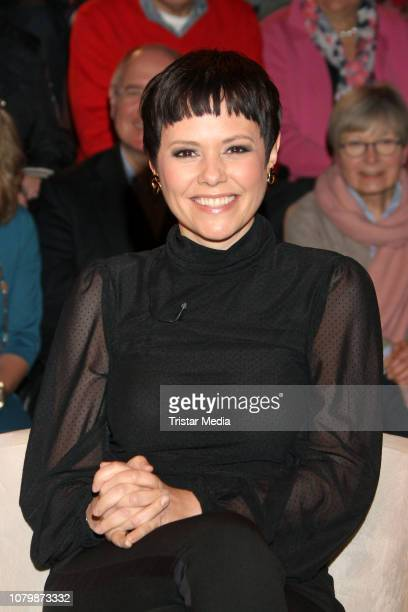 Francine Jordi during the 'Markus Lanz' TV show on January 9 2019 in Hamburg Germany