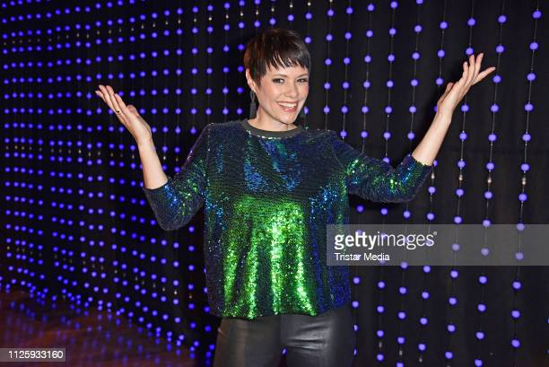 Francine Jordi during the 'Meine Schlagerwelt Die Party mit Ross Antony' MDR TV show recording at Eventpalast on February 19 2019 in Leipzig Germany