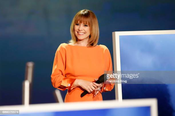 Francine Jordi during the tv show 'Willkommen bei Carmen Nebel' at Velodrom on May 20 2017 in Berlin Germany