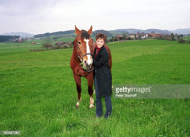 Francine Jordi Homestory Berner Oberland Schweiz Pferd Hengst Hektor Wiese Alm