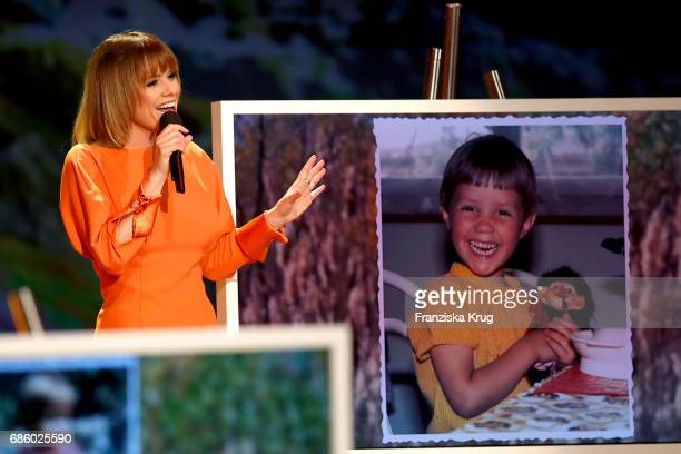 Francine Jordi performs at the stage of the tv show 'Willkommen bei Carmen Nebel' at Velodrom on May 20 2017 in Berlin Germany