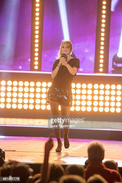 Francine Jordi performs live on stage during the 'Starnacht am Woerthersee' at Woertherseebuehne on July 17 2015 in Klagenfurt Austria