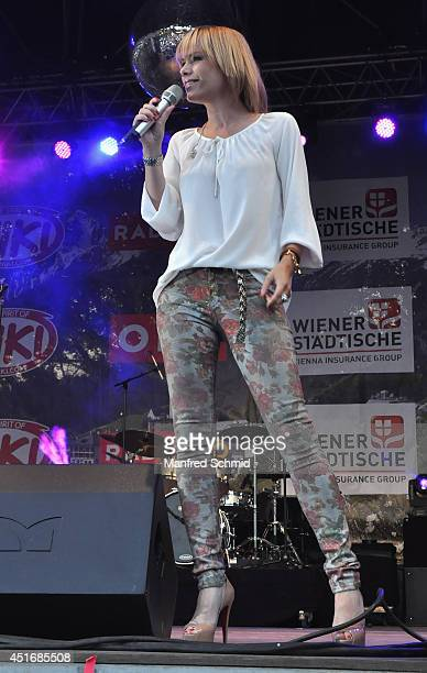 Francine Jordi performs on stage during the Donauinselfest at Donauinsel on June 28 2014 in Vienna Austria The Danube Island Festival the largest...