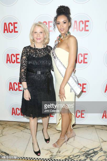 Francine LeFrak and Kara McCullough attend the 2017 ACE Gala at Capitale on May 23 2017 in New York City