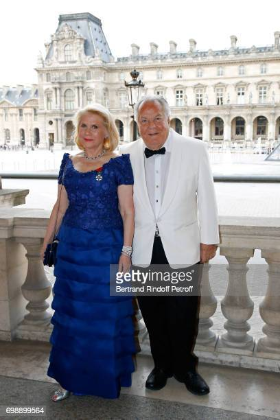 Francine Lefrak and Massimo Gargia attend the 'Liaisons au Louvre IV' Evening of patronage for the benefit of the Louvre Museum at Musee du Louvre on...