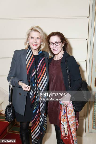 Francine LeFrak and Susan Ennis during the Susan Gutfreund Hosts UN Women For Peace Association Reception on February 12 2018 in New York City