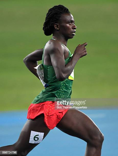 Francine Niyonsaba of Burundi compete during the Women's 800m Semifinals on Day 13 of the Rio 2016 Olympic Games at the Olympic Stadium on August 18...