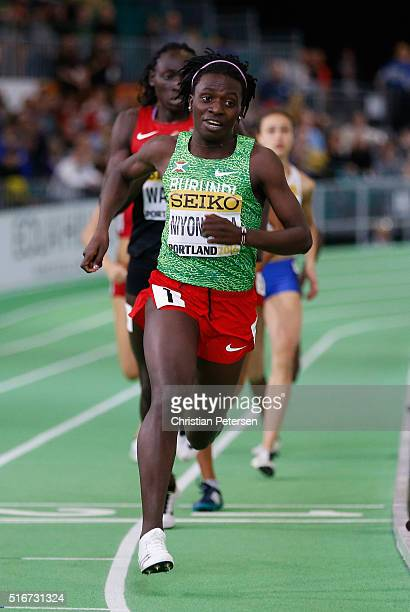 Francine Niyonsaba of Burundi competes in the Women's 800 Metres Final during day four of the IAAF World Indoor Championships at Oregon Convention...
