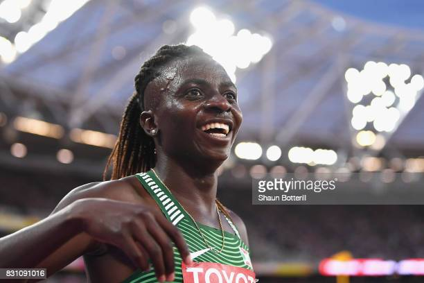 Francine Niyonsaba of Burundi silver celebrates after the Womens 800 metres during day ten of the 16th IAAF World Athletics Championships London 2017...