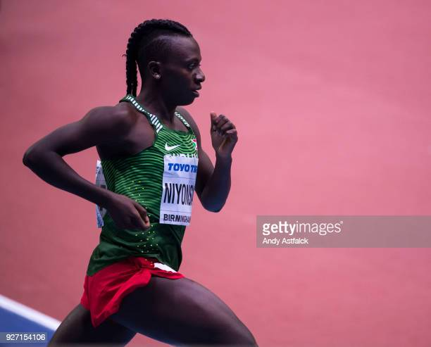 Francine Niyonsaba of Burundi Women's 800m Final on Day 4 of the IAAF World Indoor Championships at Arena Birmingham on March 4 2018 in Birmingham...