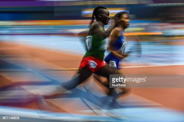 Francine Niyonsaba of Burundi wins 800 meters at World indoor Athletics Championship 2018 Birmingham England on March 4 2018