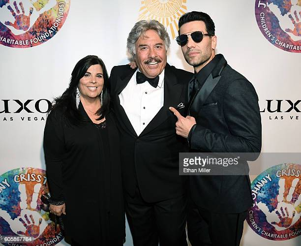 Francine Orlando singer Tony Orlando and illusionist Criss Angel attend Criss Angel's HELP charity event at the Luxor Hotel and Casino benefiting...