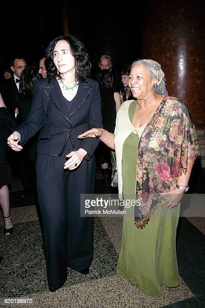 Francine Prose and Toni Morrison attend The PEN American Center's 2008 Literary Gala at American Museum of Natural History on April 28 2008 in New...