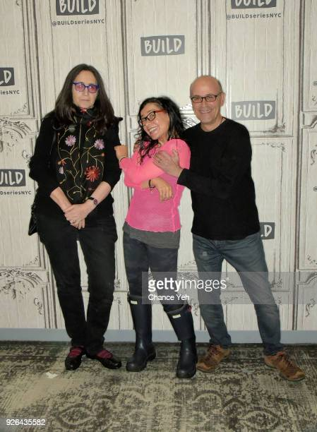 Francine Prose Janeane Garofalo and Richard Levine attend Build series to discuss 'Submission' at Build Studio on March 2 2018 in New York City