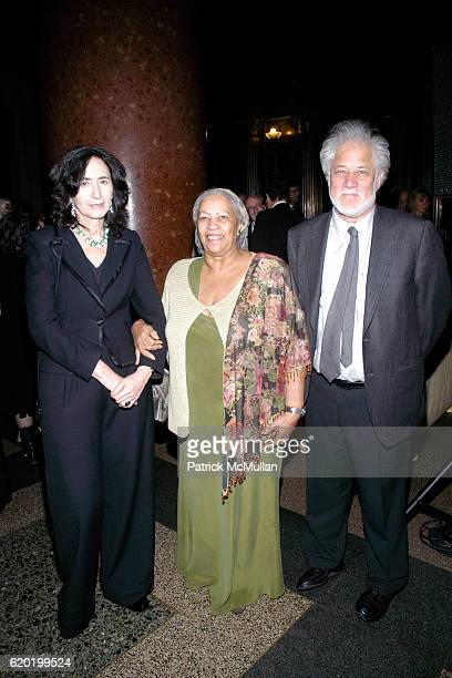 Francine Prose Toni Morrison and Michael Ondaatje attend The PEN American Center's 2008 Literary Gala at American Museum of Natural History on April...