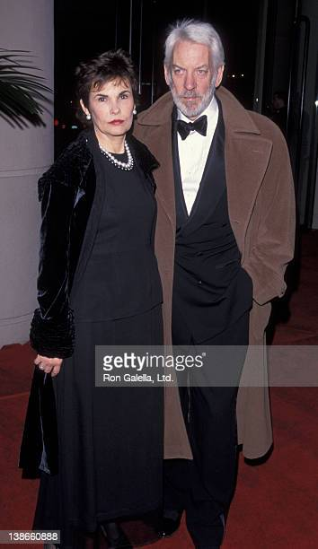 Francine Racette and Donald Sutherland attend 27th Annual American Film Institute Lifetime Achievement Awards on February 18 1999 at the Beverly...
