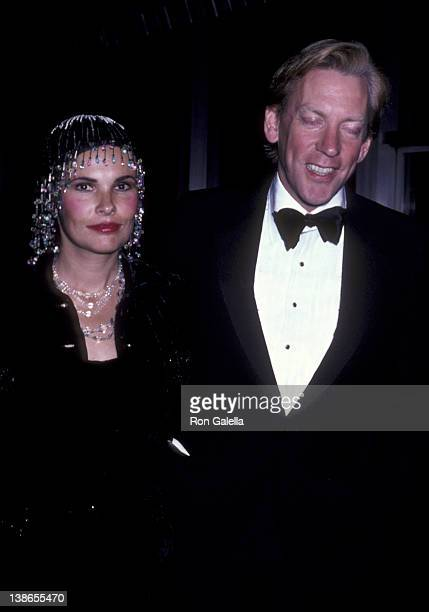 Francine Racette and Donald Sutherland attend Kennedy Center Honors Reception on December 6 1980 at the State Department in Washington DC