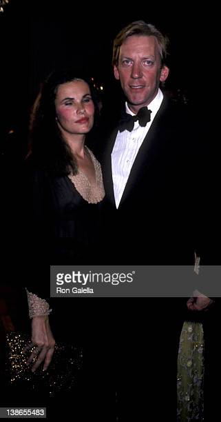 Francine Racette and Donald Sutherland attend Kennedy Center Honors Gala on December 7 1980 at the Kennedy Center in Washington DC