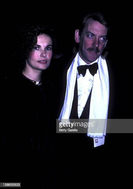Francine Racette and Donald Sutherland attend Kennedy Center Honors Reception on December 5 1981 at the State Department in Washington DC