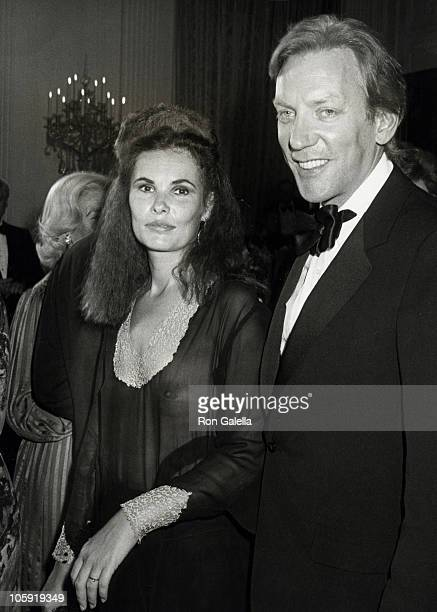 Francine Racette and Donald Sutherland during Reception for The Kennedy Center Nominees at The White House December 7 1980 at The White House in...