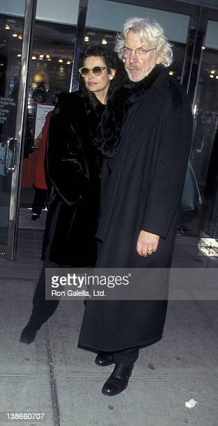 Francine Racette and Donald Sutherland sighted on December 8 1997 Madison Avenue in New York City