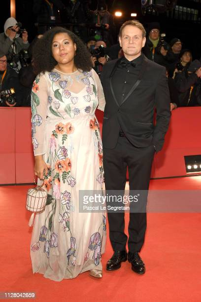 Francine Striesow and Devid Striesow attend the The Kindness Of Strangers premiere during the 69th Berlinale International Film Festival Berlin at...