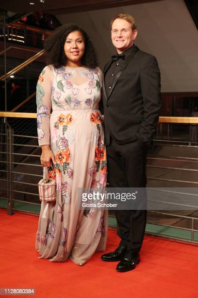 Francine Striesow and Devid Striesow attends the The Kindness Of Strangers premiere during the 69th Berlinale International Film Festival Berlin at...
