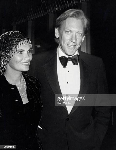 Francine Sutherland and Donald Sutherland during Kennedy Center Honors Luncheon December 6 1980 at State Department Building in Washington DC...
