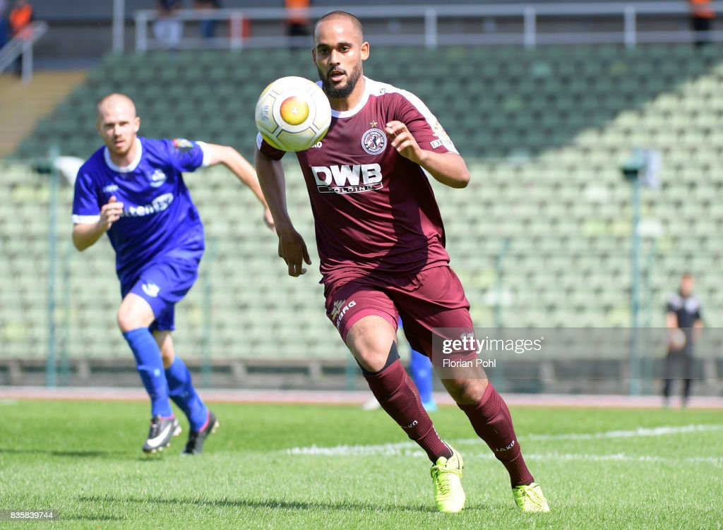Francis Adomah of BFC Dynamo during the game between BFC Dynamo Berlin and VSG Altglienicke on august 20, 2017 in Berlin, Germany.