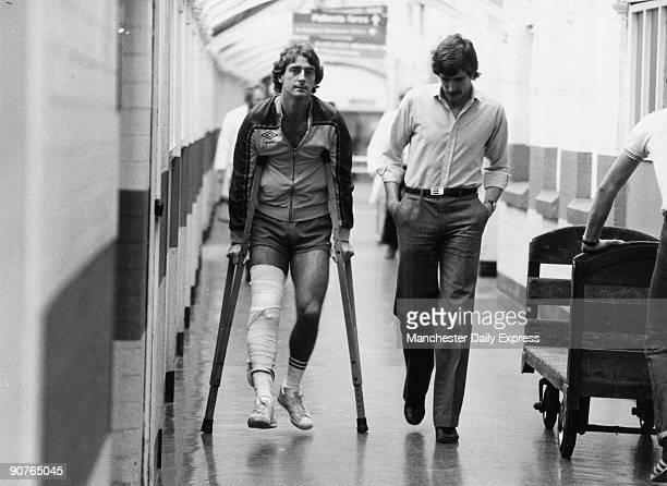 Francis and Paul Power at Manchester Royal Infirmary after Francis had seen a specialist Trevor Francis was Britain's first million pound footballer