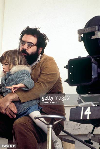 Francis and Sofia Coppola on the set of The Godfather Part II