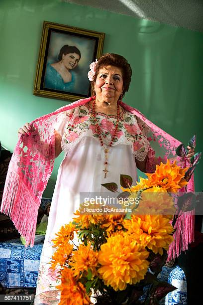 LOS ANGELES CA MARCH 05 2014 Francis Angulo at her home Wednesday March 05 2014 The 83yearold Angulo was a mariachi during the 1940s and she still...