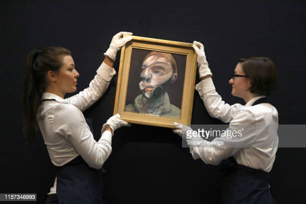 Francis Bacon 'SELFPORTRAIT' 1975 Est £15000 — 20000 which is to be sold as part of the Sotheby's Contemporary Art Evening and Day Auctions on June...