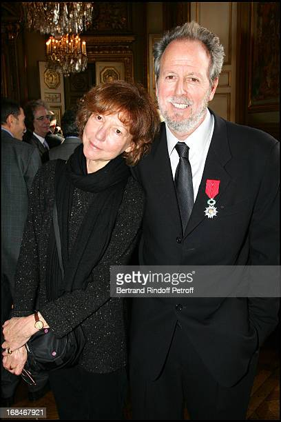 Francis Boespflug knight of the Legion of Honor and Anne Wiazemsky Reception in the halls of the hotel of Marine for the awards ceremony of badges...
