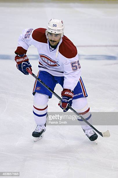 Francis Bouillon of the Montreal Canadiens in action against the Washington Capitals during an NHL game at the Verizon Center on November 29 2013 in...