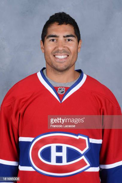 Francis Bouillon of the Montreal Canadiens poses for his official headshot for the 20132014 season on September 11 2013 at the Bell Sports Complex in...