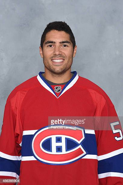 Francis Bouillon of the Montreal Canadiens poses for his official headshot for the 20142015 season on September 18 2014 at the Bell Sports Complex in...
