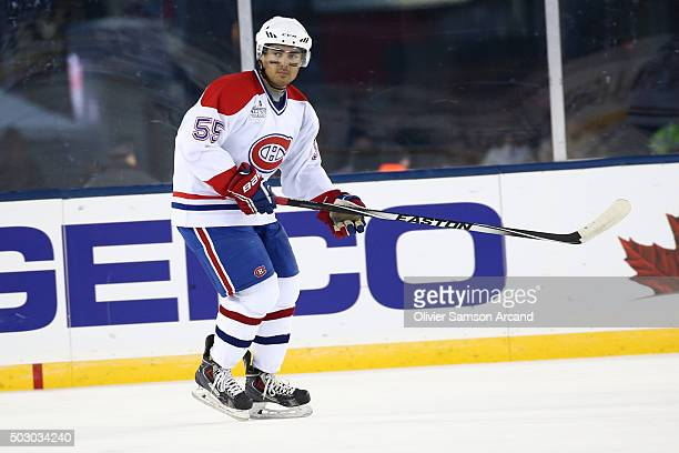 Francis Bouillon of the Montreal Canadiens skates against the Boston Bruins in the alumni game on December 31 2015 during 2016 Bridgestone NHL Winter...